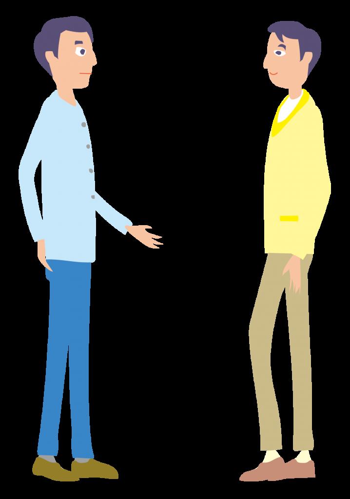 対話する親子